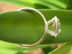 The diamond as close to the shank as possible and this would be perfect.