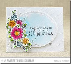 Pretty Posies, Pretty Posies Die-namics, Rainbow Greetings, Stitched Mini Scallop Oval STAX Die-namics, One Way Chevron Stencil - Barbara Anders  #mftstamps