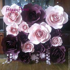 Купить Гигантские розы. 1квм. Индивидуальные цвета - разноцветный, гигансткие розы, розы из бумаги,purple paper flowers,pink flowers