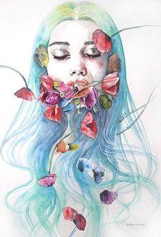Imagen de art and flowers