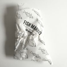 LOVE THE PACKAGING by our local fish market, here in Groningen NL