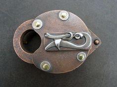 Custom Made Upcycled Lock Belt Buckle