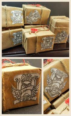 Owl Post parcel ornament Harry Potter
