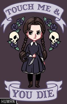 cool funny anti valentine wednesday addams digi art graphic illustration card design gothic kawaii - Google Search