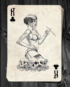 Stephen Lewis is raising funds for Day of the Dolls - Pin-Up Playing Cards Deck RELAUNCH! on Kickstarter! Classic Pin-up Playing Cards inspired by The Day of the Dead. Skull Tattoo Design, Tattoo Designs, Stephen Lewis, Playing Cards Art, Multimedia Arts, Cartomancy, Pin Up Art, Deck Of Cards, Halloween