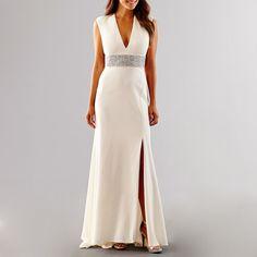 973d3b78307 Blu Sage Short Sleeve Beaded Wedding Gown - Blue Sage - White - Size 4.