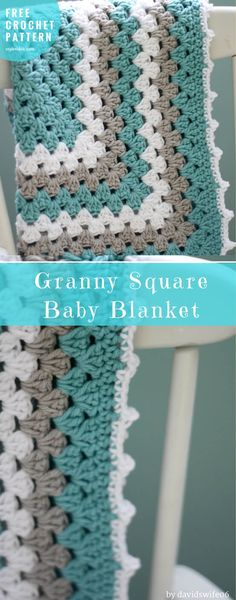 Granny Square Baby Blanket Free Crochet Pattern | Crafts Ideas