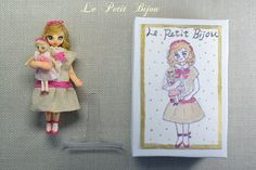 miniature doll and her tiny doll doll and by LePetitBijouArtDoll