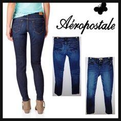 AEROPOSTALE 00 w26 Bayla Skinny Long Denim Jeans Aeropostale Women's Bayla Skinny Jeans Condition: pre-owned Size: 00 w26 Color: Dark wash Product Details:  Excellent condition Coin pocket Subtle fading Iconic back pocket stitching Aeropostale Jeans Skinny