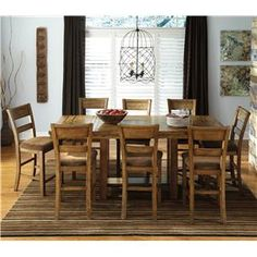 krinden 9piece counter extension table set by signature design by ashley