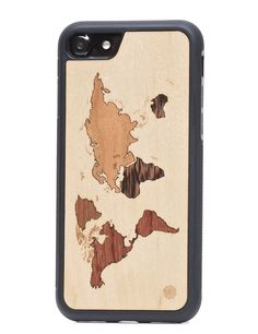 Wooden Case World For iPhone by Exallo Wooden Case, Iphone 7 Plus, Iphone Cases, Vintage, Iphone Case, I Phone Cases, Vintage Comics, Primitive