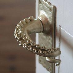 Knobs And Knockers, Door Knobs, Bathroom Door Handles, Octopus Decor, Door Handle Sets, Tentacle, Home Accessories, Sweet Home, Room Decor
