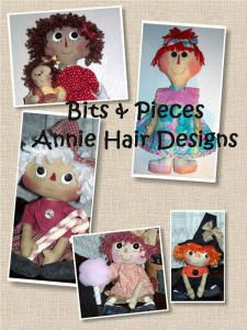 Bits & Pieces Annie Hair Designs E-Book From Brenda Greenwalt of Lillie Mae's Crafts