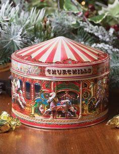 Victorian Trading Co Churchill's Carousel Merry Go Round Toffee Tin #Churchills