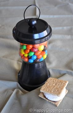DIY candy lantern - would make a great craft/take home gift for a kid's (tween?!) birthday party!!