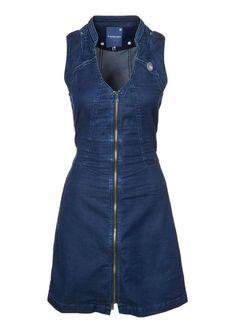 G-Star Rider jeans dress, longer skirt Outfit Jeans, Jeans Dress, Dress Outfits, Fashion Dresses, Denim Fashion, Womens Fashion, Denim Ideas, Mode Style, Dress Patterns