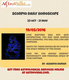 Read Your Scorpio Daily Horoscope to plan your day accordingly. Get Free guidance for the day and everyday.  #scorpio #daily_horoscope