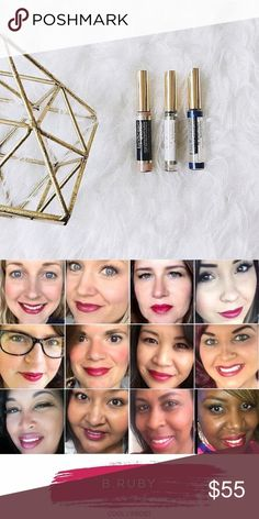 LipSense B. Ruby Starter Set The listing includes 1 B. Ruby LipSense, 1 Glossy Gloss and 1 Oops Remover for $55. Additional colors are $25 each. To create a custom listing with other colors, please comment with what you want. To see more colors, photos and tips please visit my Instagram or FB @sunkissed_by_kelsey. Thank you  Makeup Lipstick