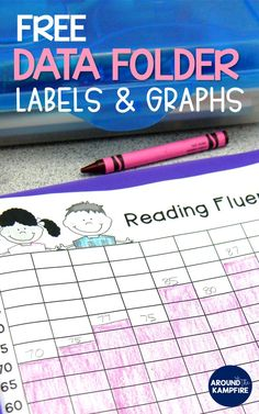 Teaching and grade students about goal setting and data tracking to monitor their progress and growth is easy with these free math, spelling, and reading fluency graphs and data folders for students. Student Data Folders, Student Data Tracking, Data Binders, Student Data Notebooks, Reading Fluency, Reading Intervention, Teaching Reading, Teaching Tips, Guided Reading