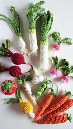 Kawaii Crochet, Cute Crochet, Crochet For Kids, Knit Crochet, Crochet Fruit, Crochet Food, Crochet Flowers, Crochet Eyes, Crochet Stitches