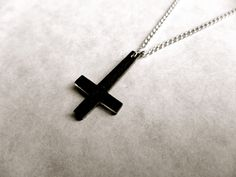 Hey, I found this really awesome Etsy listing at https://www.etsy.com/listing/237398932/tiny-dark-inverted-upside-down-cross