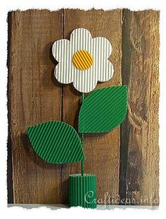 Corrugated Cardboard Daisy Table Decoration