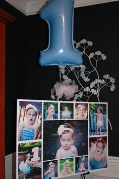 Birthday Photo Collage idea. Might do this with photos from one year old to five to show her growth .