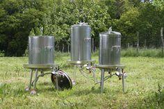 Æblepresser, komplet rustfri i serie fra 35 - 250 liter