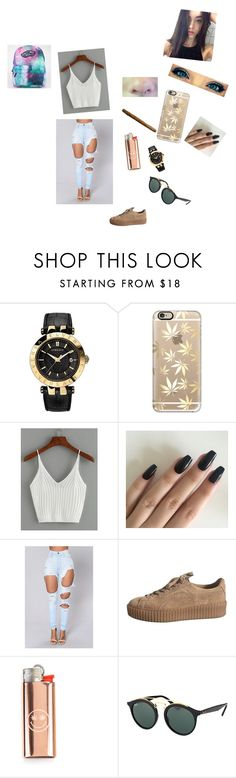 """""""Sem título #62"""" by laurafeldetonello on Polyvore featuring moda, Versace, Casetify, WithChic, Ray-Ban e Vans"""