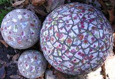 Hypertufa Garden Art | Mosaic Hypertufa Spheres - Garden Art - Photo Gallery - Cafe Garden