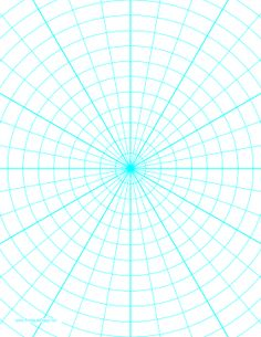 This letter-sized polar graph paper has 10-degree angles and half-inch radials. Free to download and print
