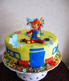 Pippi Longstocking Birthday Parties, Birthday Cake, Pippi Longstocking, Gotcha Day, Cold Porcelain, Party Cakes, Amazing Cakes, Decoration, Cake Toppers