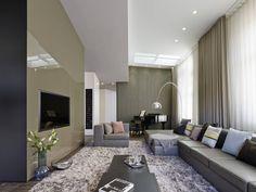 Moderne woonkamers van Ippolito Fleitz Group – Identity Architects