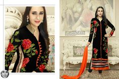 ‪#‎Black‬ ‪#‎georgette‬ ‪#‎embroidered‬ ‪#‎semiStitched‬ ‪#‎salwar‬ ‪#‎with‬ ‪#‎dupatta‬