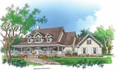 Low Country House Plan with 3037 Square Feet and 5 Bedrooms from Dream Home Source | House Plan Code DHSW01564