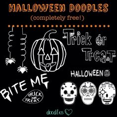 Hand drawn Halloween graphics & overlays for your photos, scrapbooking, blogging, DIY, crafting, printables & more! FREE!