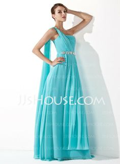 Prom Dresses - $128.99 - A-Line/Princess One-Shoulder Floor-Length Chiffon Prom Dress With Ruffle Beading (018013099) http://jjshouse.com/A-Line-Princess-One-Shoulder-Floor-Length-Chiffon-Prom-Dress-With-Ruffle-Beading-018013099-g13099