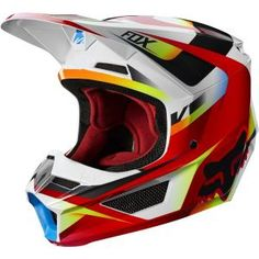 Helmet Fox V-1 Czar Light Grey M