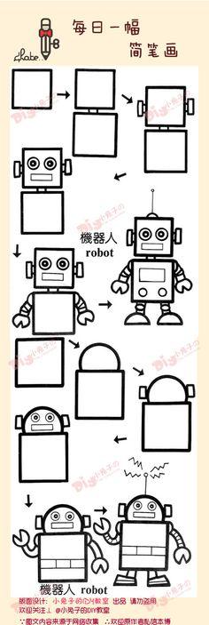 Dessiner des robots                                                                                                                                                                                 Plus
