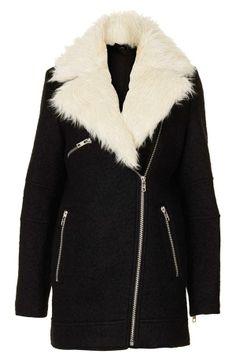 Hit The Road Detachable Faux Fur Jacket - Retro, Indie and Unique ...