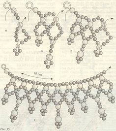 Best 12 Beautiful beaded necklaces – Page 561753753517050882 – SkillOfKing. Diy Necklace Patterns, Beaded Jewelry Patterns, Beading Patterns Free, Beading Tutorials, Free Pattern, Seed Bead Jewelry, Bead Jewellery, Beaded Ornament Covers, Beaded Christmas Ornaments