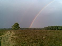 I saw this rainbow in august this year at the Bussumer Heide (Netherlands). It was visible for more than half an hour. I almost made it to the pot of gold! - by Simon Vierstra