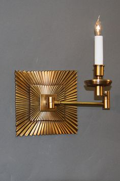 Swing Arm Sunburst Antique Brass Dimensions H x W x D Options Available * French Bronze, Nickel and Antique Brass Swing Arm Wall Light, Antique Brass, Sconces, Wall Lights, Arms, Bronze, Traditional, Lighting, Antiques