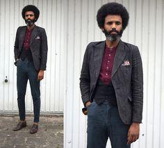 #lookbookmen #doityourself #dapper #summerstyle #menstyle #mensfashion #thrift #afro #beard