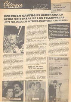 Verónica Castro es nombrada la REINA UNIVERSAL de las telenovelas.