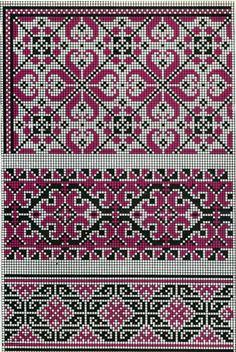 Cross Stitch Borders, Cross Stitch Charts, Cross Stitch Designs, Cross Stitching, Cross Stitch Embroidery, Cross Stitch Patterns, Knitting Charts, Knitting Stitches, Ethno Tattoo