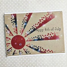 Happy 4th Of July Card by Heather Nichols for Papertrey Ink (May 2016)