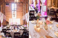 Drapery over the railing - Pratt Place Barn wedding in Fayetteville Arkansas by Stephanie Dawn Photography