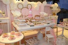 Check out this fabulous Minnie Gold and Pink Birthday Party! See more party ideas at CatchMyParty.com