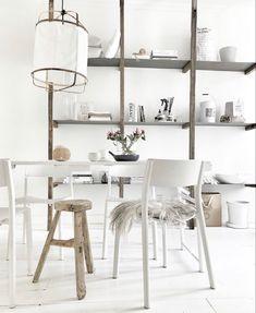 Black And White Interior, Industrial House, Dream Decor, Modern Decor, Shelving, Minimalism, Dreams, Instagram, Home Decor